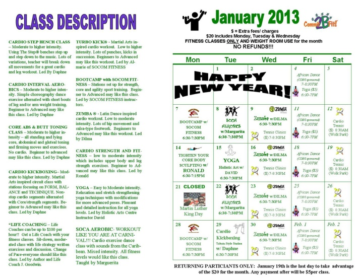 Fitness Flyer Jan. 2012