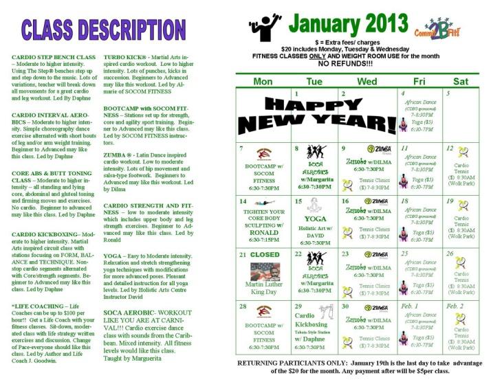 Fitness Flyer Jan. 2012