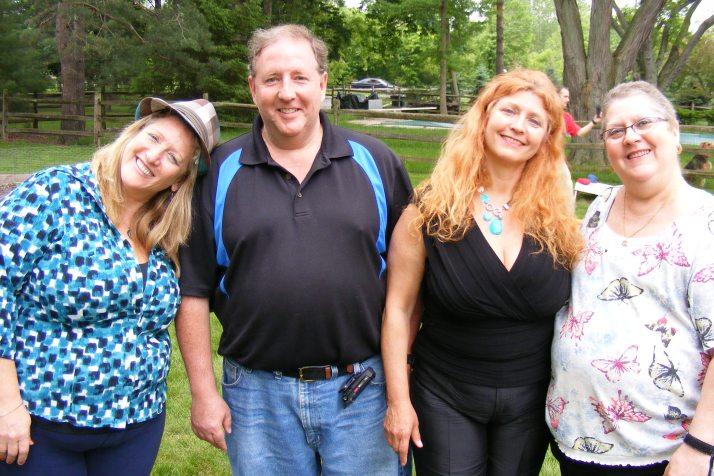 Carol Garrett, Michael Robbins, Irene Robbins, and Flo Robbins Paterni