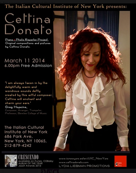 Our International President Cettina Donato will perform