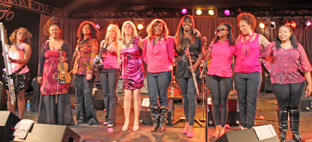 Jazz in Pink with Gail Jhonson and Paula Atherton, members of WIJSF
