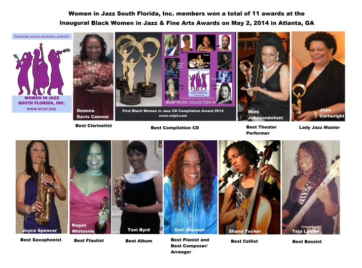 Congratulations to our members who were honored at the Black Women in Jazz Awards in Atlanta, GA