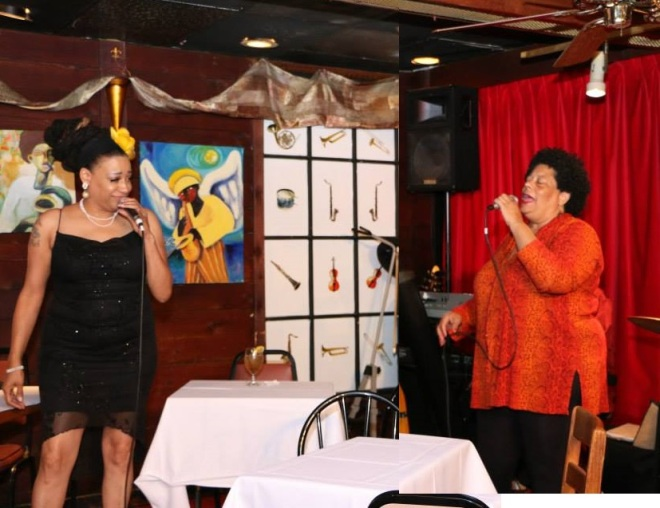 Mimi Johnsondotnet and Diva JC perform at Cafe 290, Atlanta Photo: Steve Moore