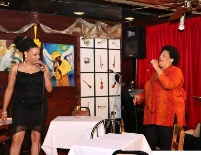 Mimi Johnsondotnet and Diva JC perform at Cafe 290, Atlanta Photo: Steve Moore