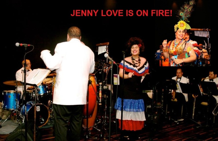 """jENNY LOVE said, """"This photo shows what my heart feels every time I sing!""""  — with Carmen I. Sardina and Chrome Knights at Seminole Casino Coconut Creek."""