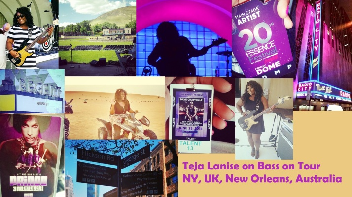 Bassist Teja Lanise is living the dream, while touring with Janell Monae in the U.S., UK, Australia, and Europe!