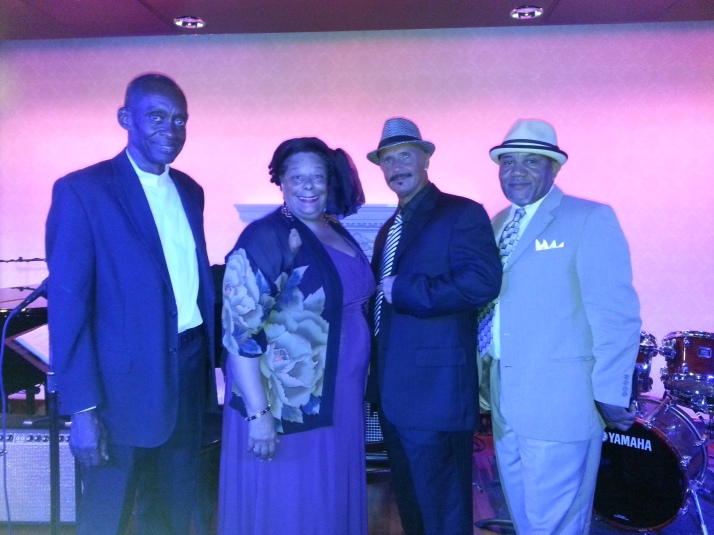 Walter Bland (p), Diva JC, Art Weiss (d), and Anthony Chatman (b) aboard Royal Caribbean Allure of the Seas in Jazz on 4