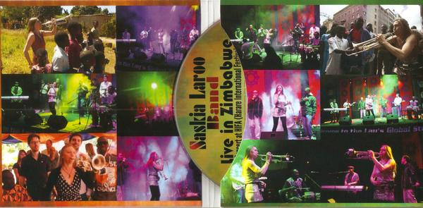 This CD archives the energetic concert of Saskia Laroo and her eight-piece funk unit on May 3, 2013, in Zimbabwe, during the unique Harare International Festival of the Arts (HIFA). The band with her rocking rhythm section was supplemented on this occasion by rappers and Phantom Complex, African percussionist Pape Seck and the American pianist/vocalist Warren Byrd.