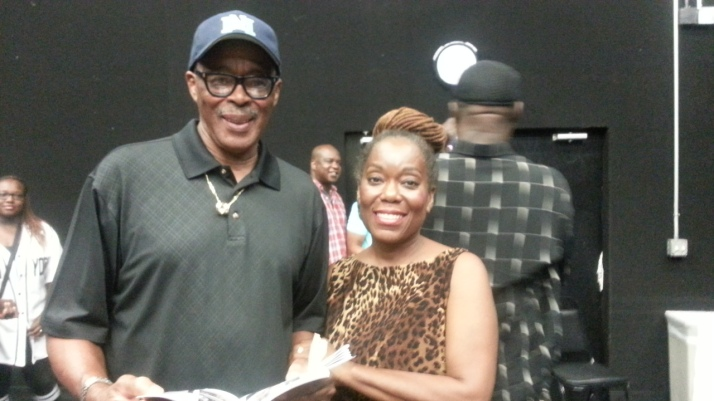 Jus' Cynthia with John Pryor, Director of Zooman and The Sign, which she starred in on October 11